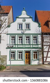 White house in the historic city of Lippstadt, Germany