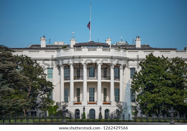 White House Home President United States Buildings Landmarks Stock Image 1262429566