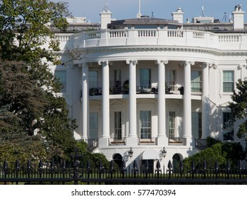 The White House, home of the United States President, in Washington DC.