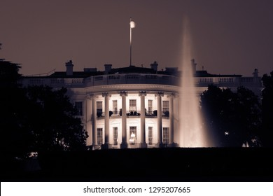 White House at night - Washington DC United States of America