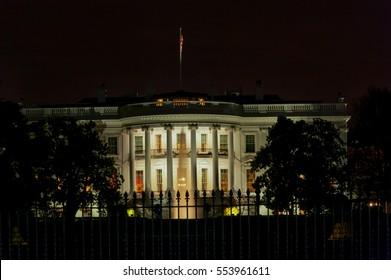 White House at Night. Washington DC