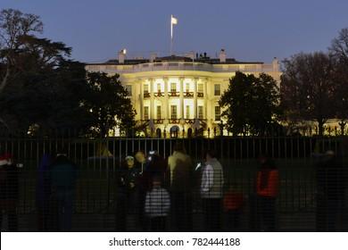 White House at night - Washington DC USA