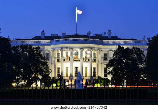 La Casa Bianca di notte - Washington DC, Stati Uniti