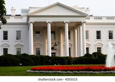 White House on Pennslyvania Avenue in Washington DC.