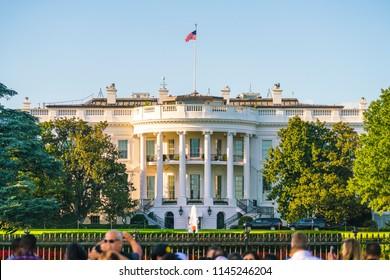 The White House on sunny day, Washington, D.C. ,USA.