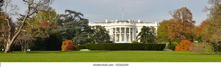 The White House panorama in Autumn - Washington DC, United States