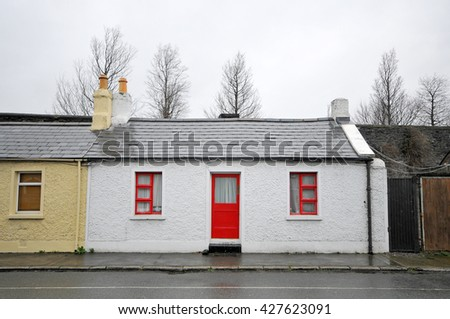 White House Red Door Windows Frames Stock Photo (Edit Now) 427623091 ...