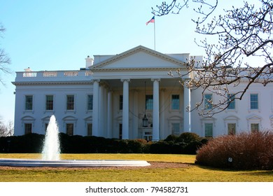 The White House sits on Pennsylvania Avenue