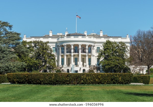 The White House and the South Lawn