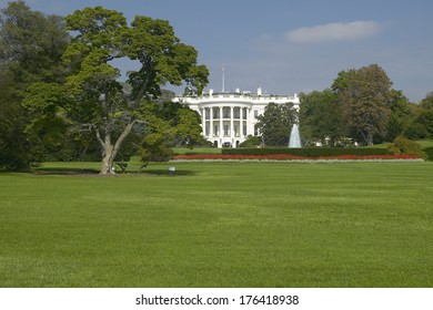 The White House South Lawn with Truman Balcony, Washington D.C.