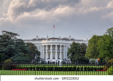 The White House in Washington DC at beautiful sunset, USA