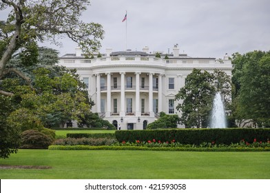 The White House in Washington D.C. at a cloudy day, Executive Office of the President of the United States