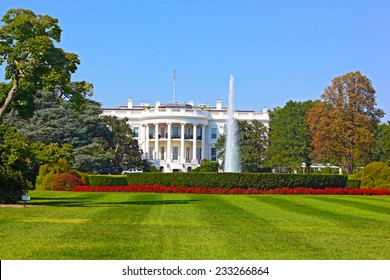 The White House, Washington DC, USA. The White House under a clear blue sky.