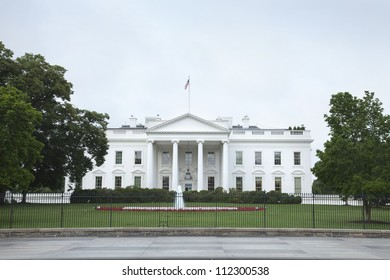 The White House in Washington DC viewed from the north