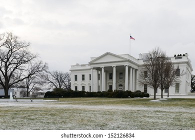 The White House in winter - Washington DC, United States