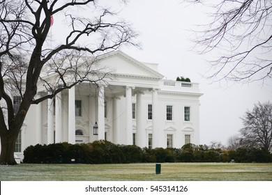 White House in Winter - Washington DC USA