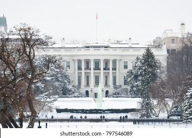 White House in winter - Washington DC, United States