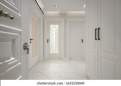 White interior doors at the home