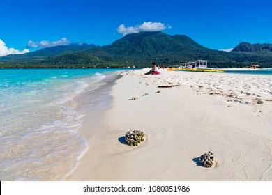 White Island Camiguin Philippines April 23, 2018 The sandbar known as White Island