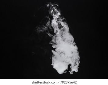 White isolated smoke of vape