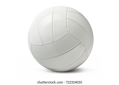 White isolated volleyball over a white background.