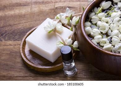 White jasmine flower with spa concept