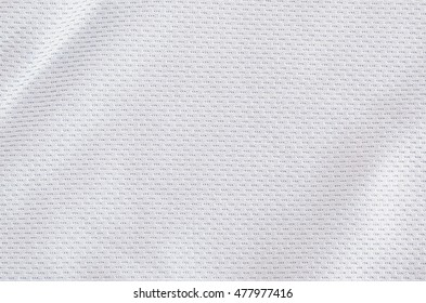 White jersey fabric texture background, sports wear.