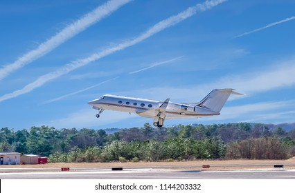 White Jet Taking Off