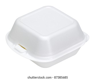 a white junk food box made of plastic in white back