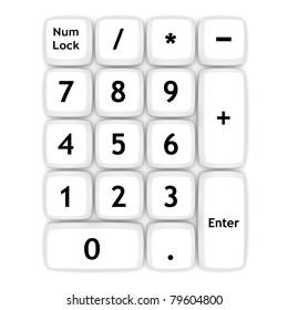 White keypad