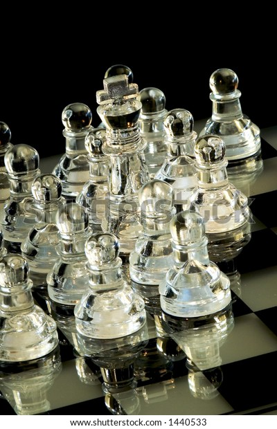 A white king surrounded by a lot of white pawns (more than eight)