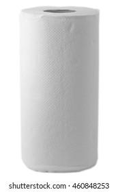 White kitchen towel isolated on white