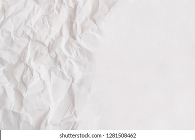 White kneaded paper. Light crumpled background