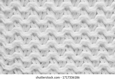 White knit pattern texture as background
