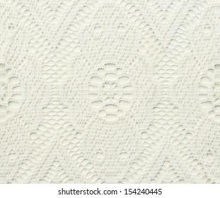 White lace with abstract pattern for background