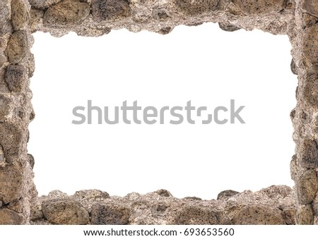 White Landscape Frame Background Rock Borders Stock Photo (Edit Now ...