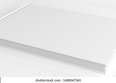 White Landscape / Horizontal Hardcover Book