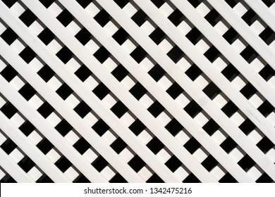 White lattice fence pattern