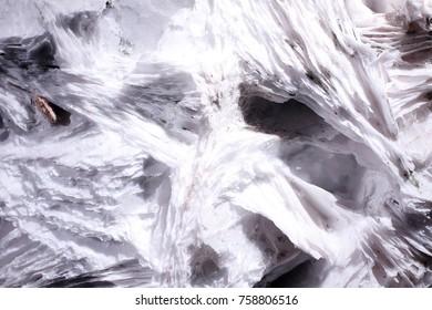 White leafy calcite