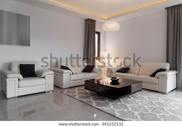 Sensational White Leather Furniture Elegant Modern Lounge Stock Photo Ibusinesslaw Wood Chair Design Ideas Ibusinesslaworg
