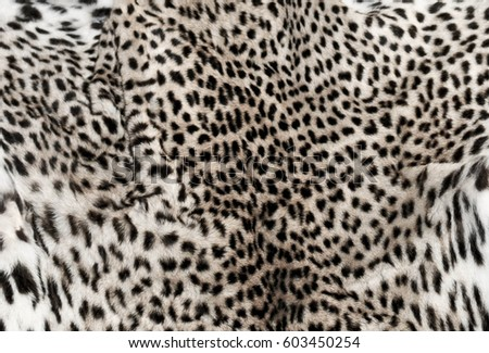 White leopard fur