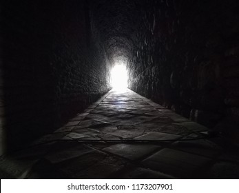 White light int the tunnel