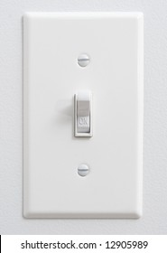 "White light switch in ""ON"" position"