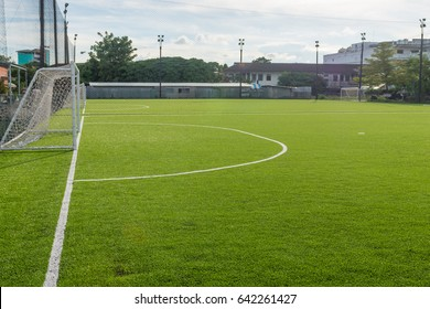 White line and artificial turf