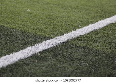 white line on football field