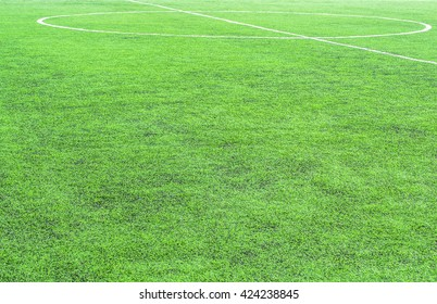 white line on green grass texture background