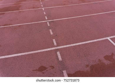 White line on Orange floor