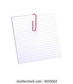 white lined paper on white background