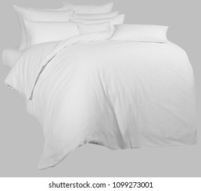 white linen (kit), for graphic processing, on a neutral background.