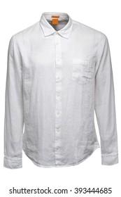 White linen male shirt